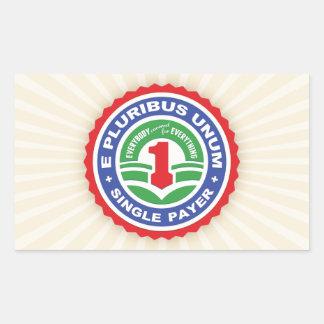 E Pluribus Unum Payer Rectangle Stickers