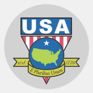 E Pluribus Unum Round Sticker