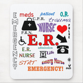 E.R. Nube Enfermera-Colorida de la palabra Tapete De Ratones