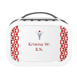 E.R. Nurse 2-Colorful Word Cloud/Personalize Name Lunch Box