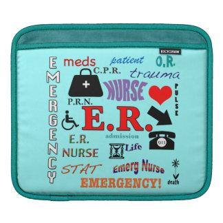 E.R. Nurse-Colorful Word Cloud iPad Sleeves