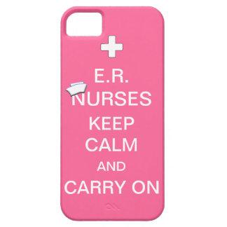 E.R. Nurses Keep Calm+Nurses Cap/Soft Pink iPhone SE/5/5s Case