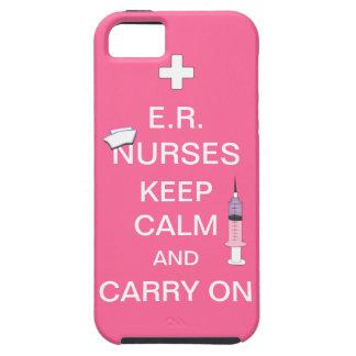 E.R. Nurses Keep Calm+Syringe and Cap/Soft Pink iPhone SE/5/5s Case