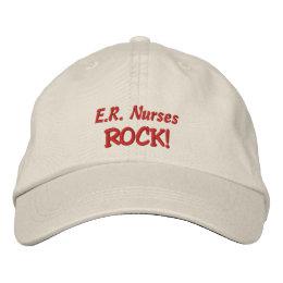 E.R. Nurses Rock! Embroidered Baseball Hat