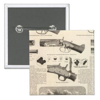 E Remington and Sons 2 Inch Square Button