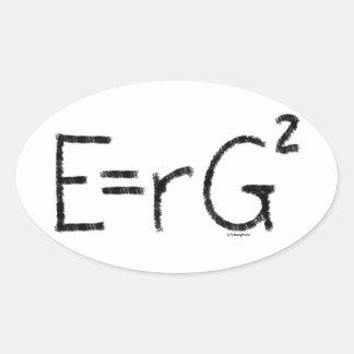 E=rG squared Oval Sticker