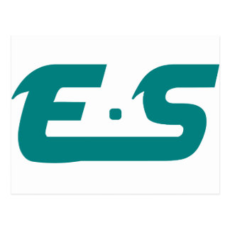 E.S Atlantis Teal Logo Product Postcard