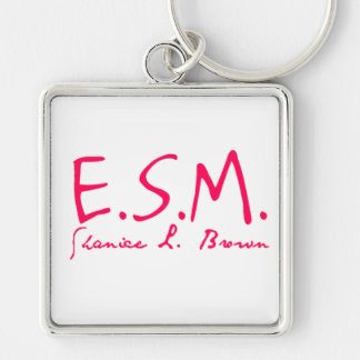 E.S.M. Llavero cuadrado de la firma