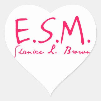 E.S.M. Signature Heart Stickers