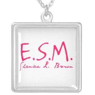 E.S.M. Signature Sterling Silver Square Necklace