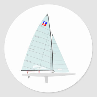 E-scow   Racing Sailboat onedesign  Class Classic Round Sticker