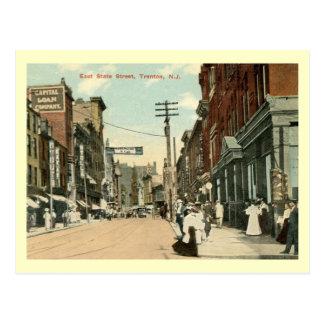 E. St. del estado, vintage de Trenton, New Jersey Postales