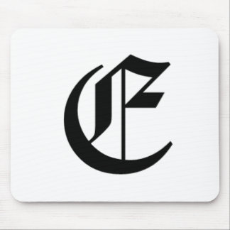 E-text Old English Mouse Pad
