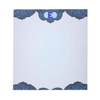 E - The Falck Alphabet (Blue) Note Pad