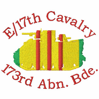 E Troop 17th Cav. 173rd Abn M113 Embroidered Shirt