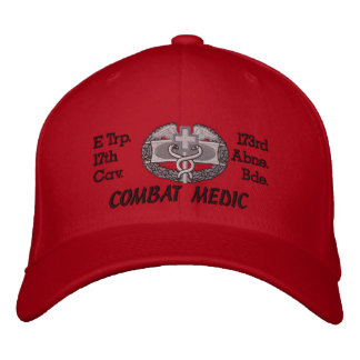 E Trp. 17th Cav. 173rd Abn.CMB Embroidered Hat