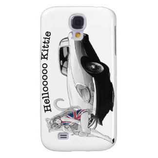 E-type Jag with hot cat girl Samsung Galaxy S4 Case