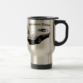 E-type Jag with hot cat girl 15 Oz Stainless Steel Travel Mug