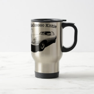 E-type Jag with hot cat girl mug or cup