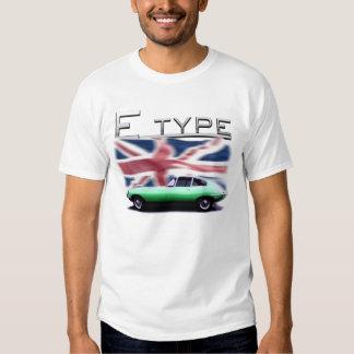 E type Jaguar on UK flag Background T Shirt