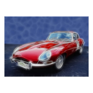 E-Type Red Poster