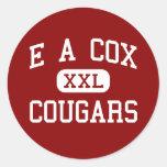 E un $cox - pumas - centro - Columbia Tennessee Etiquetas Redondas