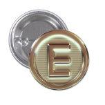 E - Vegan letters 2/5 Pin