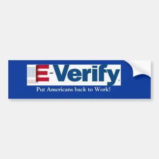 E-Verify Car Bumper Sticker