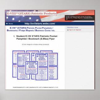 E-VIII**(STARS) Patriotic Pocket Pamphlets Print