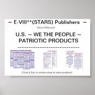E-VIII**(STARS) Publishers -- Store Billboard -- Poster