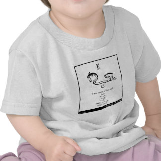 E was once a little eel t-shirts