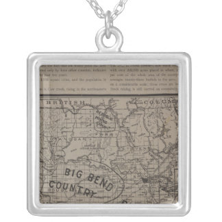 E Washington, N Idaho Silver Plated Necklace