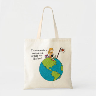 E you will know the truth tote bag