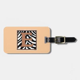 E-Zebra Monogram Luggage Tag