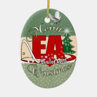 EA CHRISTMAS  Enrolled Agent Ceramic Ornament