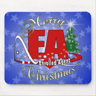 EA CHRISTMAS Enrolled Agent Mousepads