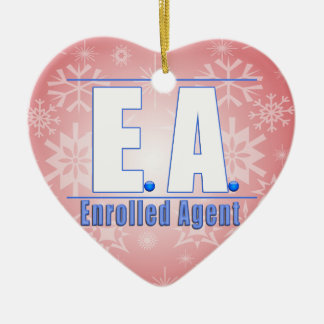 EA LOGO1 ENROLLED AGENT CERAMIC ORNAMENT