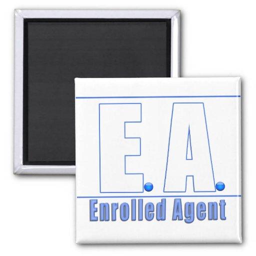EA LOGO1 ENROLLED AGENT FRIDGE MAGNETS