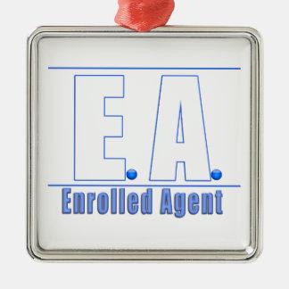 EA LOGO1 ENROLLED AGENT METAL ORNAMENT