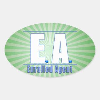 EA LOGO1 ENROLLED AGENT OVAL STICKER