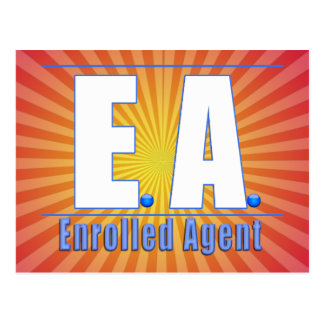 EA LOGO1 ENROLLED AGENT POST CARD