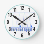 EA LOGO1 ENROLLED AGENT ROUND WALL CLOCK