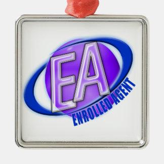 EA ORB SWOOSH LOGO - ENROLLED AGENT METAL ORNAMENT
