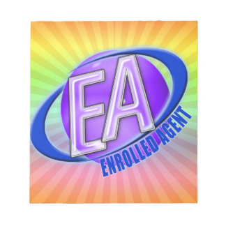EA ORB SWOOSH LOGO - ENROLLED AGENT NOTEPAD