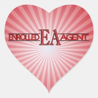 EA SPECIALIST LOGO ENROLLED AGENT HEART STICKER