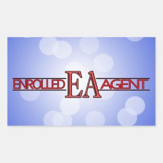 EA SPECIALIST LOGO ENROLLED AGENT RECTANGULAR STICKER