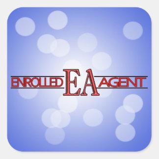 EA SPECIALIST LOGO ENROLLED AGENT SQUARE STICKER