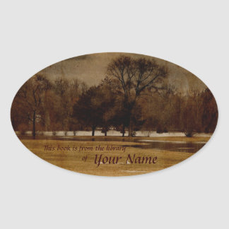eaarly spring landscape library sticker plate