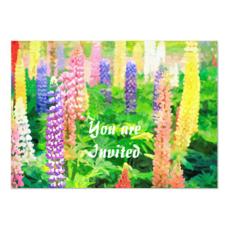 Each Day is a New Beginning Colorful Lupine Flower Announcements
