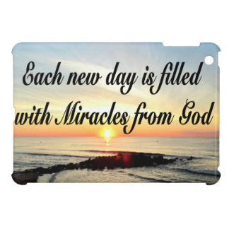 EACH DAY IS MIRACLES FROM GOD iPad MINI COVERS